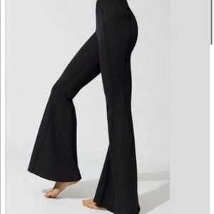 Free People flare sweat pants black - medium
